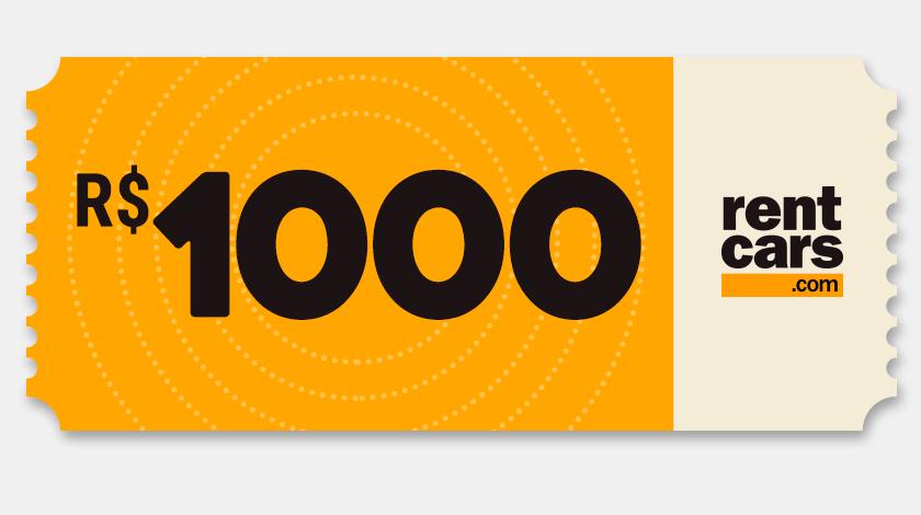 Voucher de Desconto - Rentcars - R$1000