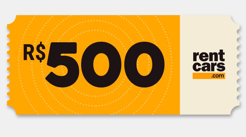 Voucher de Desconto - Rentcars - R$500
