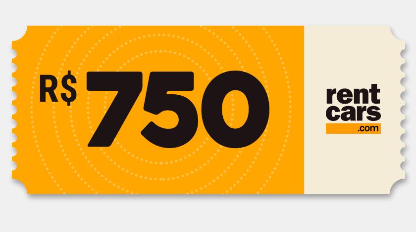 Voucher de Desconto - Rentcars - R$750