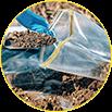 Serviço de coleta de solo